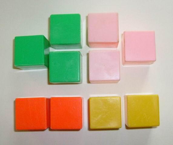 blauw lego blokje