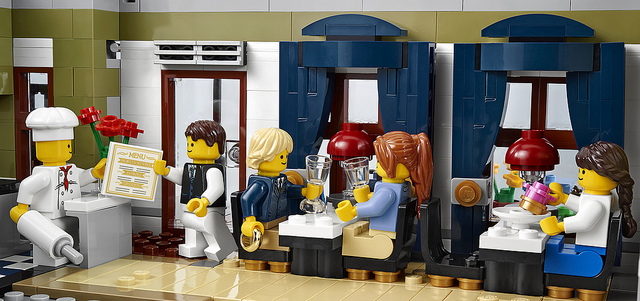 Afmetingen Keuken Restaurant : LEGO Restaurant