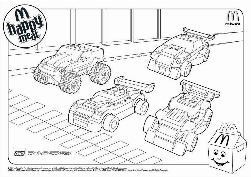 kleurplaten lego cars