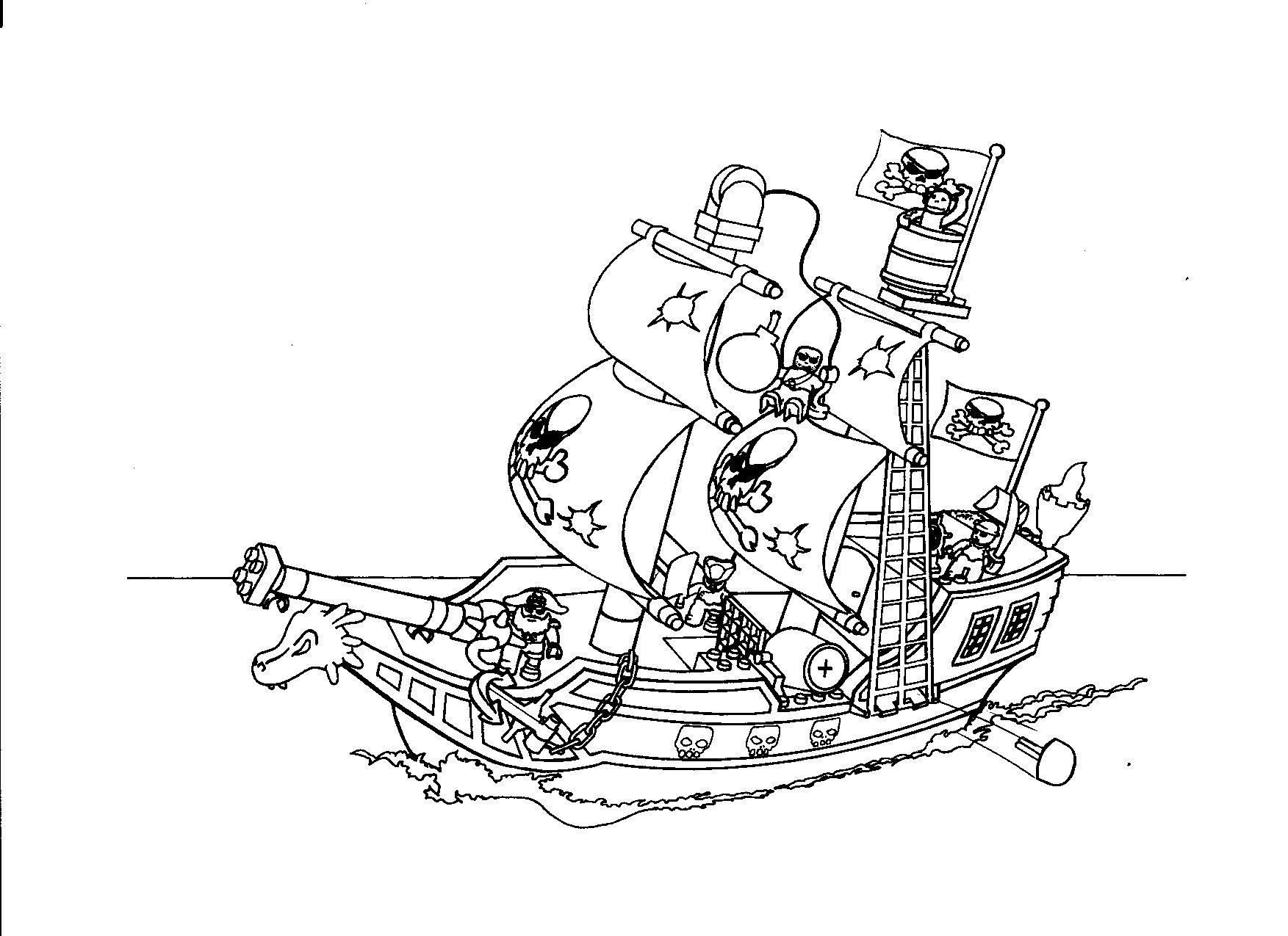 lego kleurplaten piraten