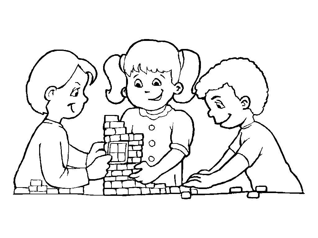 kleurplaat spelen met lego