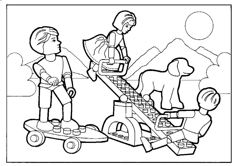 Kleurplaat Lego Belville Speeltuin