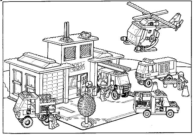 lego fire station coloring pages - photo#19