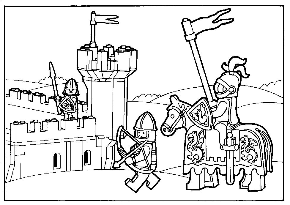 Kleurplaten Lego Heroes.Free Lego Knights Coloring Pages Learn How To Draw Lego Abomination