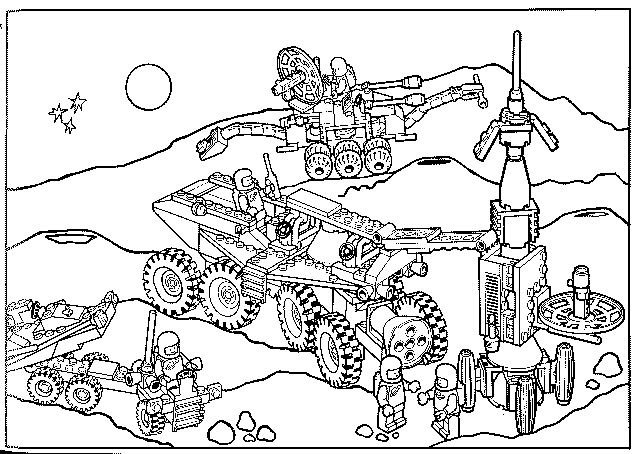 Kleurplaat Lego Ruimte