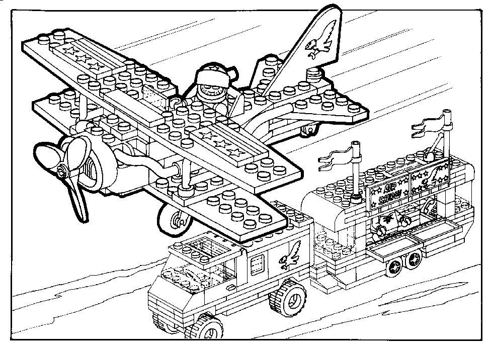 Ninjago Lego Kleurplaat Kleurplaat Lego Vliegtuig En Boot