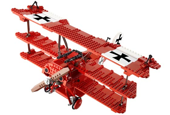 lego red plane instructions